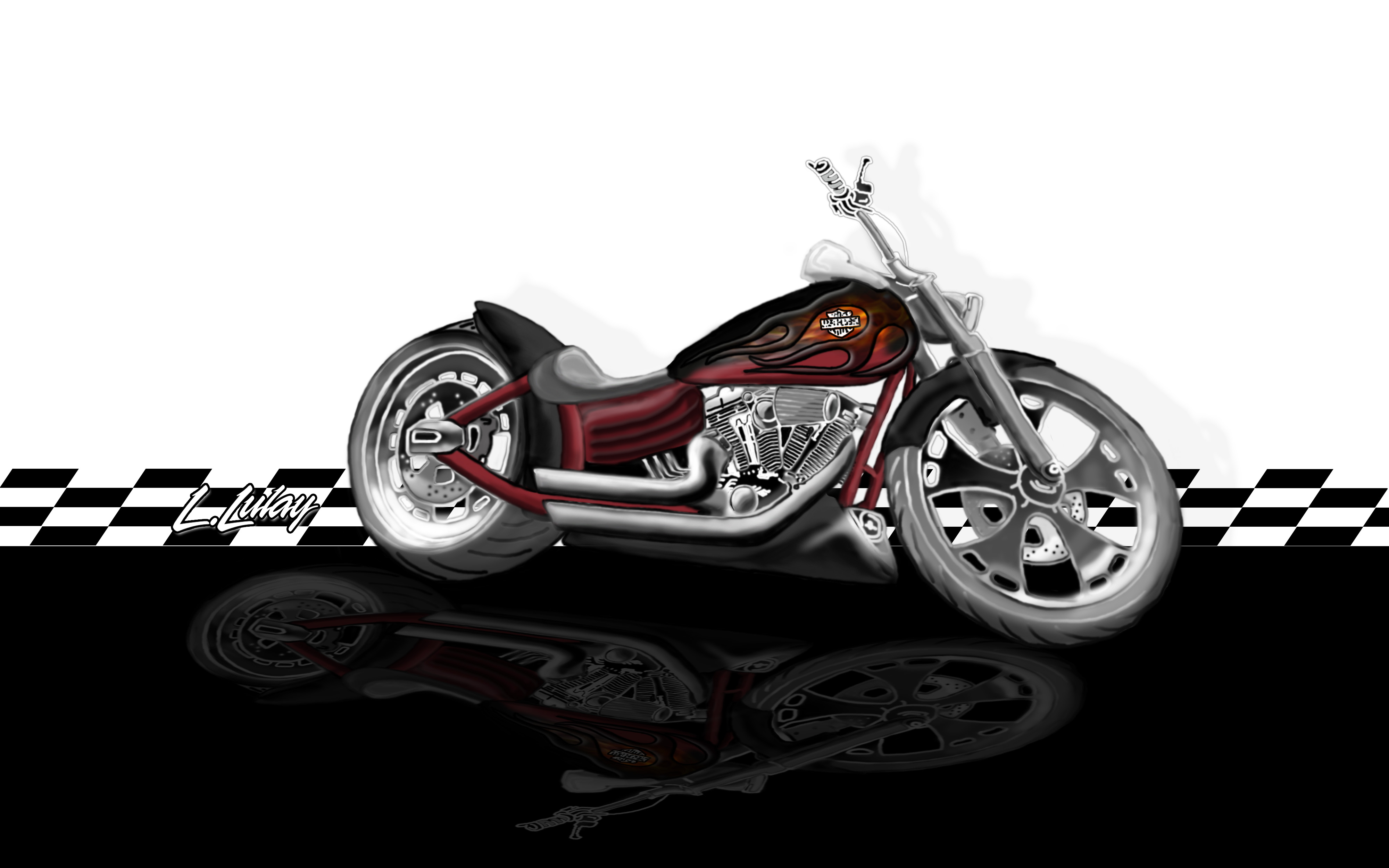 Lulay S Harley Artwork Caricatures Motorcycles Hotrods
