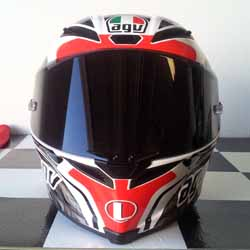 Project Diavel: AGV Corsa Circuit - Front - April 2015