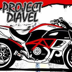 Project Diavel Artwork - Ducati Diavel art by Larry Lulay.
