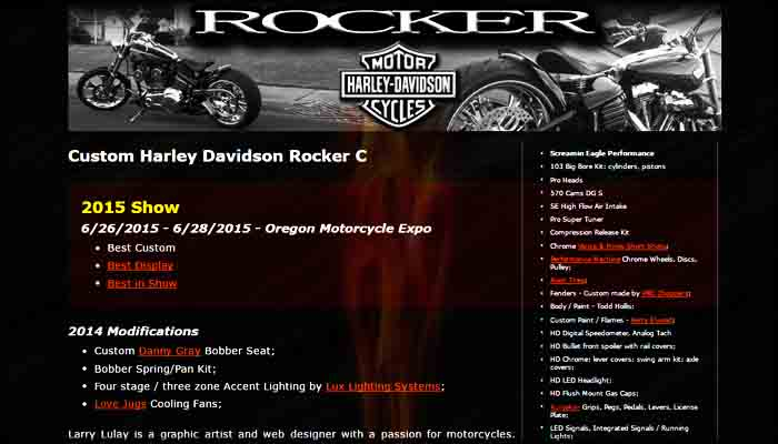 Custom Harley Rocker Site