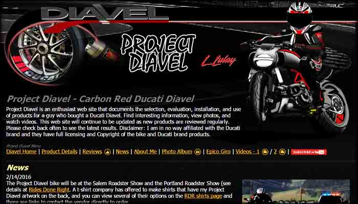 Project Diavel Site